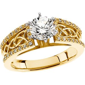 14kt White 1/10 CTW Diamond Band ,Size- 6