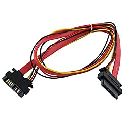 CNCT SLIM SATA CABLE 6+7 Extension 0.15M - Suitable for use with HDD and peripherals from WD - Seagate - Toshiba - Hitachi - Lacie