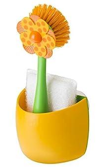 Vigar Lolaflor Orange Sink Side Set, 9-Inches, Orange, Green