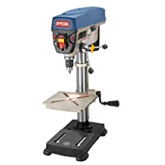 The 5 speed selections of the Ryobi 10 in. Drill Press help you complete a wide range of drilling applications. Powered by a heavy-duty induction motor for long-lasting performance, this drill press swivels 360 degrees and accepts mortising attachmen...