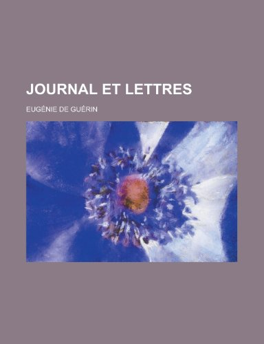 Journal Et Lettres