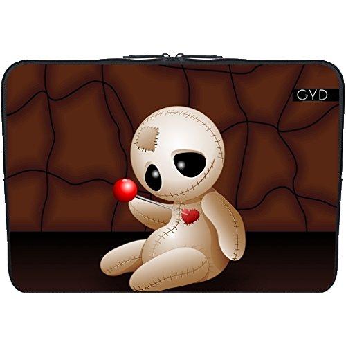 "Coperchio Neoprene Laptop Netbook PC 13.3 ""pollici - Bambola Voodoo Cartone Animato In Amore by BluedarkArt"