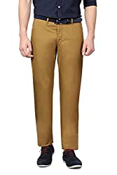 Van Heusen Sport Mens Air Chino Slim Fit Casual Trousers (8907355329386_VSTF515S08609_30W x 34 L_Light Khaki)