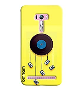 Omnam Old And New Music Cassettes Combination Printed Designer Back Cover Case For Asus Zenfone Selfie