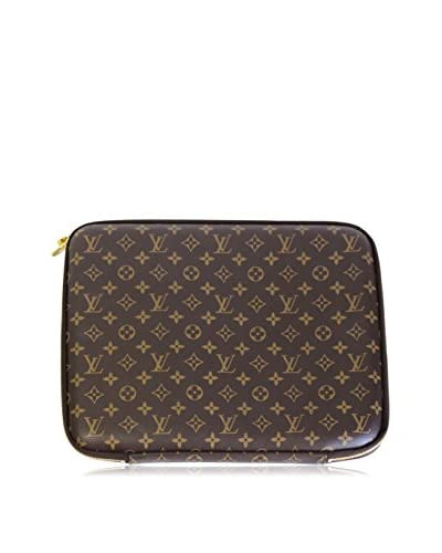 Louis Vuitton Monogram Zip-Around Laptop Case, Brown Monogram