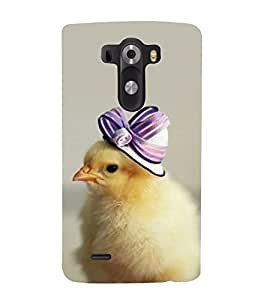 printtech Chick Cute Cap Back Case Cover for LG G3