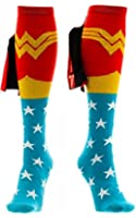 Wonder Woman Knee High Socks with Shiny Cape, One Size