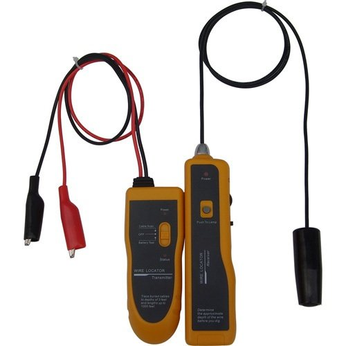 Underground Cable Wire Locator, Easily Locate Pet Fence Wires, Sprinkler Control Wires, Metal Pipes, Electrical Wires, Telephone Wire, Coax Cable (Metal Cable Wire compare prices)