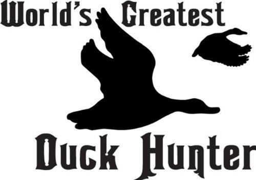 Design with Vinyl Design 191 World's Greatest Duck Hunter Peel and Stick Vinyl Wall Decal Sticker, 16-Inch By 20-Inch, Black