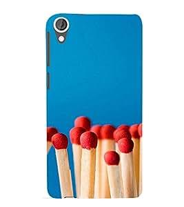 PrintVisa Cute Matchstick Pattern 3D Hard Polycarbonate Designer Back Case Cover for HTC Desire 820