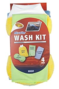 Detailer's Choice 3-540 Microfiber Wash Kit - 4 Piece from Detailer's Choice