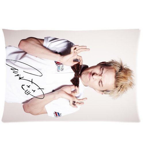 Soft Cotton Home Bedding Pillowcase Cushion Covers 1 Side 20X30-Print Korea Hot Singer Fashion Icon G-Dragon Cool Picture Photos-2 front-1057610