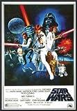 Star Wars Movie Poster 70's One Sheet Artwork 24x36 Wood Framed Poster Art Print