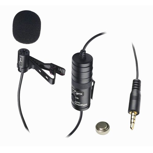 Samsung Galaxy S3 Cell Phone External Microphone Vidpro Xm-L Wired Lavalier Microphone - 20' Audio Cable - Transducer Type: Electret Condenser