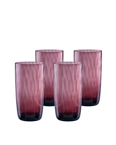 Artland Set of 4 Pebble 18-Oz. Highball Glasses, Purple