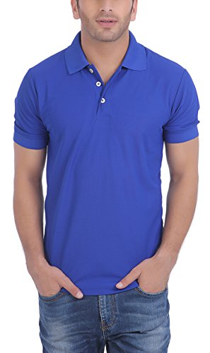 American Crew Men's Polo Collar Royal Blue T-Shirt – S (AC131A-S)