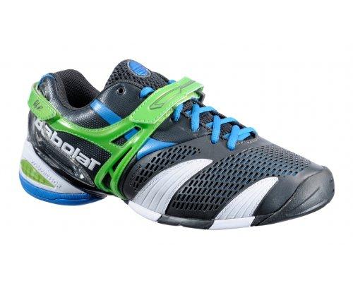 BABOLAT Propulse 3 Men's Tennis Shoes, Grey/Green, UK10.5