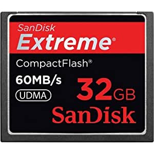 SanDisk SDCFX-032G-A61 32 GB Extreme CompactFlash Memory Card 60MB/S