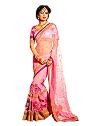 Offo Deals Partywear Traditional Pink Women Saree ss-9009