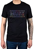 Official Muse Logo T-Shirt Song Titles Spectrum Metal Hard Rock Band The 2nd Law