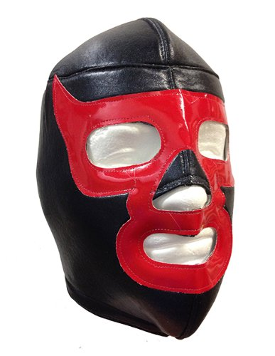 Red Demon Adult Lucha Libre Wrestling Mask (pro-fit) Costume Wear - Black/Yellow