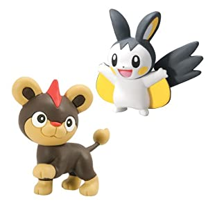 Pokemon Litleo vs Emolga Small Figure (2-Pack)