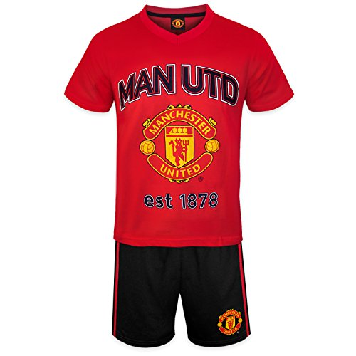 manchester-united-fc-official-football-gift-boys-short-pyjamas-red-8-9-years