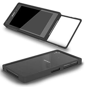 Sony Xperia Z1 Compact Mini Alu Rahmen Aluminium Case Metall Cover Schutz Hülle Schieben Bumper Tasche Sturz CNC schwarz black