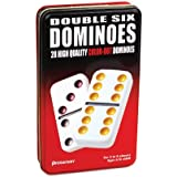Double 6 Colour Dot Dominoes In A Tin