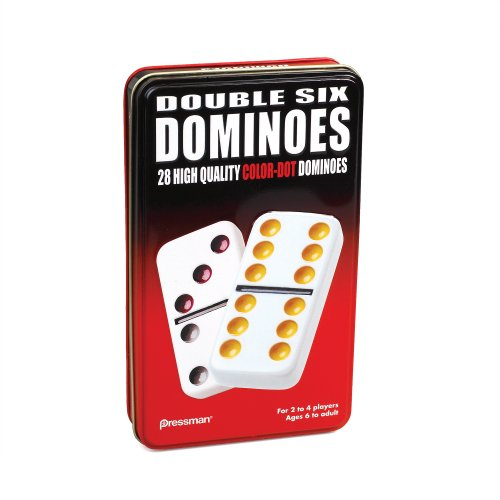 Pressman Double 6 Colored Dominoes - 1
