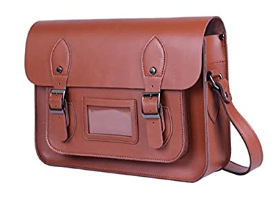 sulandy@Mens Leather Shoulder Bag Handbags Briefcase for the Office Messenger Bag/Large Enough to Hold Books / iPad