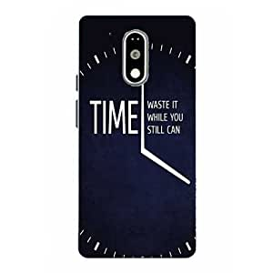 Moto G4 Play Time Slogan Printed Navy Blue Hard Back Cover By Snazzy