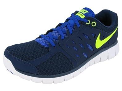 New Nike Flex 2013 Run Navy/Volt Mens 7