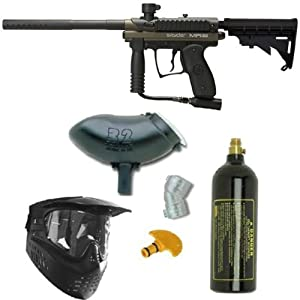 Spyder MR1 Paintball Marker Gun 3Skull Package - Olive