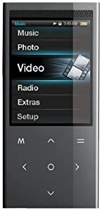 Coby 4 GB 2.4-Inch Touchpad Video MP3 Player with FM, Stereo Speaker and Camera, Black (Discontinued by Manufacturer)