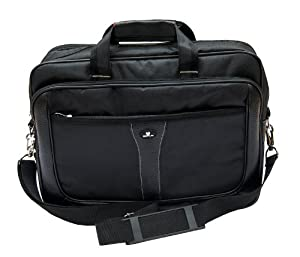"Case4Life Executive 13.3"" to 15.6"" Laptop Carry case shoulder bag for Toshiba Satellite C, L, P, U, S Series Chromebook inc C55-A-1N1, C55-A-1UC, C50-A, C50D, L50 - Lifetime Guarantee"