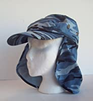 Legion Flapper Boating Cap Blue Camouflage from Q Headwear