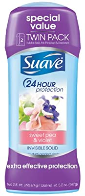 Suave Invisible Solid Anti-Perspirant and Deodorant Twin Pack