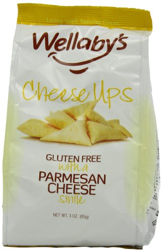 Wellaby's Cheese Ups Parmesan, 3-Ounce (Pack of 6)