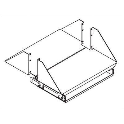 Monitor Shelf with Single Sliding Keyboard Tray Color: Black