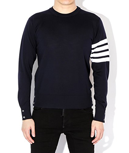 wiberlux-thom-browne-mens-stripe-sleeve-detail-wool-pullover-1-navy