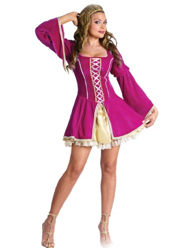 Sexy Short Renaissance Costume Dress Pink Medieval Womens Theatrical Costume
