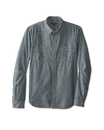 7 For All Mankind Men's Tinted Double Chest Pocket Shirt