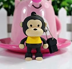 Ricco ® Baby Monkey USB High Speed Flash Memory Stick Pen Drive Disk (8GB BROWN)