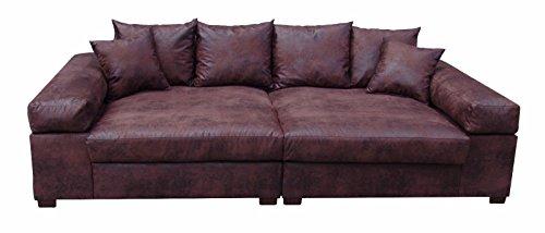 Big-Sofa-Couch-Garnitur-XXL-Megasofa-Riesensofa-Wohnlandschaft-Ultrasofa-braun