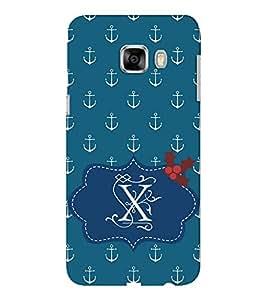 EPICCASE Blue Anchor Mobile Back Case Cover For Samsung C5 (Designer Case)