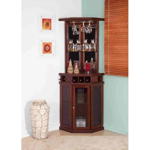 Mahogany Corner Bar Unit Home Bars
