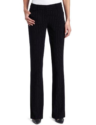 KAMALIKULTURE Women's Classic Pant, Black Pinstripe, 8