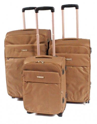 Nobel Koffer Trolley-Set von Excelent, hell-braun
