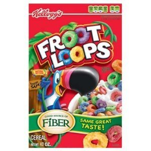 Amazon.com: Club Pack Kellogg's Froot Loops Cereal Two Bag Value Box ...
